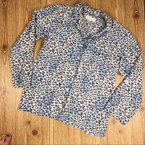 Victoria's Secret Blue Cheetah Pajama Top